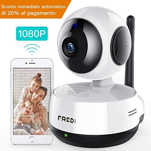 Fredi 1080p ip telecamera di sorveglianza 360° wifi wireless camera interno telecamera wi-fi senza fill controllo remoto audio bidirezionale notturna a infrarossi videocamera di sorveglianza camera