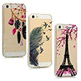 Lot de 3 coques pour iPhone SE, iPhone 5iPhone 5s Souple Silicone Anti-chute...