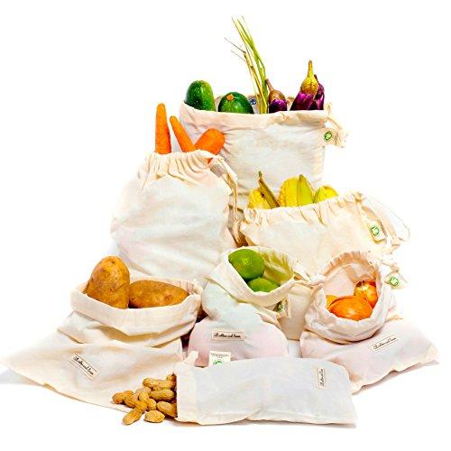 c8fed40f657 Reusable Produce Bags - Cotton Bag Reusable Muslin Bag for Go Green ...