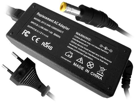 Troy - Adaptateur secteur -alimentation- 12V 3A pour de l'écran LCD 15