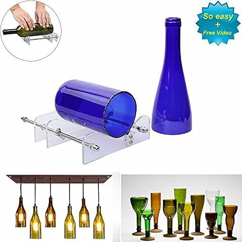 LANMU DIY Kit de máquina cortadora de vidrio para botellas de vino de cristal, herramienta para