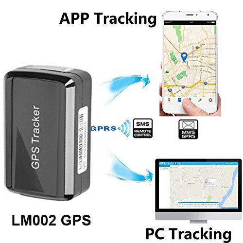 Traceur GPS magnétique - GPS/GSM/GPRS - Sans abonnement mensuel - Système portable et sans fil - Traceur caché pour véhicule