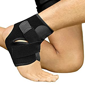 Bracoo Adjustable Ankle Support Brace – Breathable Latex-Free Neoprene Sleeve Provides Chronic Arthritic Pain Relief, Acute Sports Injury Rehabilitation & Protection against Reinjury – Unisex