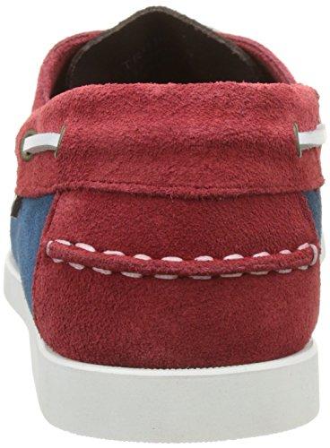 Pellet Tropic E17, Chaussures Bateau Homme Bleu (Velours Bleu/ Marron / Rouge)