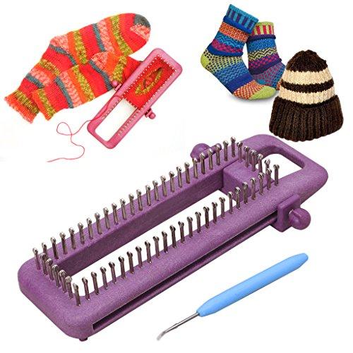 lailongp Express Strickmaschine, einstellbare Sock Loom Kit, Socken Schal Hut DIY Hand Handwerk Werkzeug