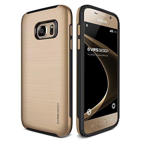 VRS Design Samsung Galaxy S7 Handy Schutz-Hülle   Verge Edition in Shine Gold   TPU PC Back-Case   Stoß- und Kratzresistente Hardcase Hülle   Smartphone Zubehör Cover