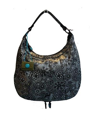 GABS , Sac pour femme à porter à l'épaule Fantasia Bianco e nero altezza 37 cm larghezza 40 cm profondità max 15 cm