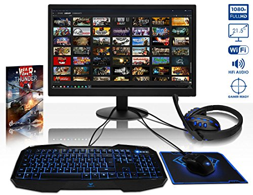 "Vibox Black-Ice LA12-247 Gaming PC da 54.61"", A12-9800, 16 GB, SDD/HDD 240000/1000, Azzurro [Layout UK]"