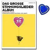 Das große Stimmungslieder Album - Akkordeon Noten - 80 beliebte Lieder für Feier, Fete, Party. Akkordeon-Ausgabe (früher: So ein Tag) - mit bunter herzförmiger Notenklammer