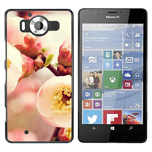 OB-star ( floración de membrillo ) NOKIA Lumia 950 Impreso Colorido Protector Duro Espalda Funda Piel De Shell