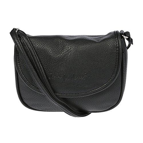 Kleine Damen Handtasche Umhängetasche 18 x 14 cm Schwarz -