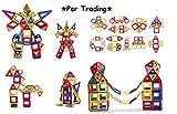 Unbekannt Per 217 Stk Magnetische Bausteine mit Aufbewahrungsbox für Kinder, 3D DIY Educational Kleinkind Baukonstruktion Ziegel Spielzeug für Kreativität Fantasie Hirnentwicklung