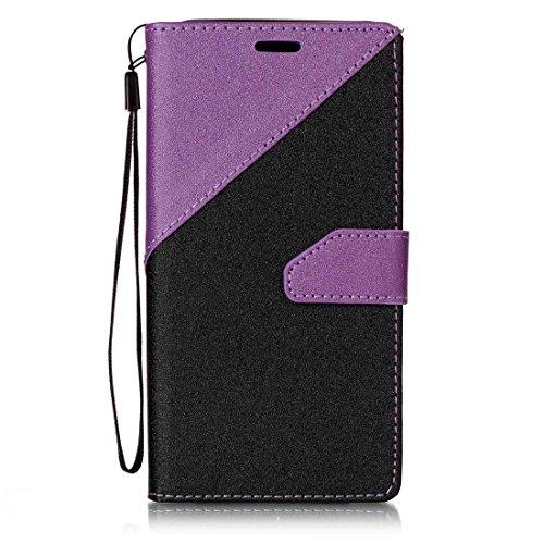 Nancen Samsung Galaxy J5(2017) Hülle PU Leder Tasche Schutzhülle Flip Case Wallet für, Magnetverschluss Standfunktion Brieftasche und Karten Slot , Taschen & Schalen