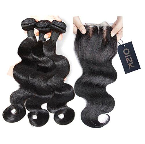 Oisk 7A Branche brésilienne des cheveux vierges avec fermoir 3 ensembles Top Ondulation du corps brésilien non transformé Traitement des cheveux Rémi humain à bas prix Extension Natrual Color (12\\