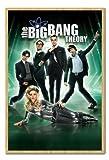The Big Bang Theory Poster Kork Pinnwand Buchenholz-Rahmen, 96,5x 66cm (ca. 96,5x 66cm)