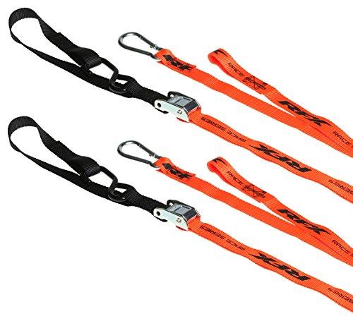 RFX FXTD 3000055HV Spanngurte aus der Race-Serie, 1 Paar, Orange