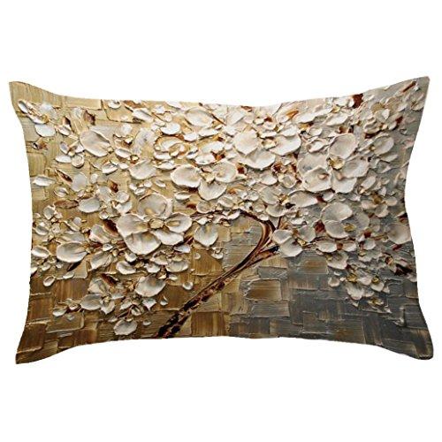 sunnymi Kissenbezug Bett Kissen Cover Rechteck Baum Design Sofa Taille Wurf Home Decor (R, 30cm*50cm) -
