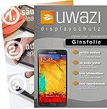 uwazi Samsung Galaxy Note 3 Neo Semi Glasfolie - gehärtete Schutzfolie mit Spezialbeschichtung gegen Fingerabdrücke