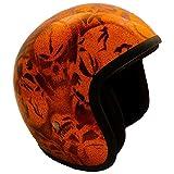 PI Wear Jet Super Flake Skulls Orange sehr kleiner und schmaler Jethelm * auffälliges Design * keine ECE (XS)