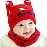 7bd3973f0 GONGZHUMAMA - Gorro de Invierno para Bebé Niños Calentito Bufanda de Lana  para Recién Nacido Suave
