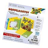 Glorex GmbH Folia 140514 - Doppelkarten, ca. 13,5 x 13,5 cm, je 5 Karten (220 g/qm), Kuverts und Einlagen, bananengelb