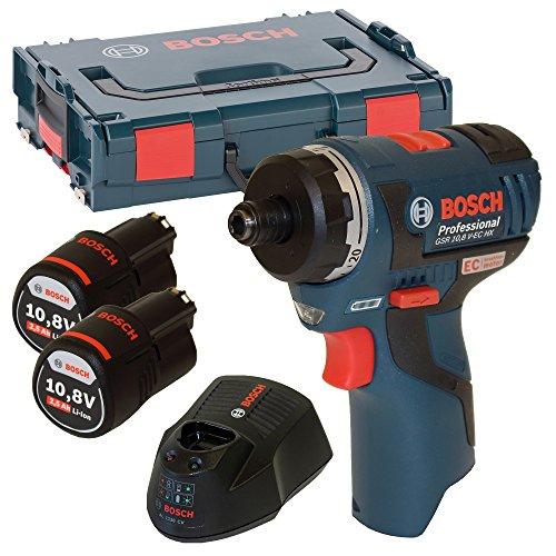 Bosch Akku und Bohrschrauber, +GSR 10,8 V-EC HX 2 x 2,5 AH L-Boxx