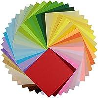 Papel para origami, nexlook superior doble cara 250hojas 50colores vivos cuadrado DIY plegable de papel para Origami Crane para artes manualidades proyectos [6x 6inch]