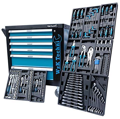 XXL Edition | Werkzeugwagen - Werkstattwagen - 6 Schubladen gefüllt mit Werkzeug | Bit Sets, Ratschen, Nüsse und vieles mehr... - 2