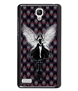 PrintVisa Metal Printed Anjel Designer Back Case Cover for Xiaomi Redmi Note 4G -D4667
