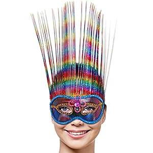 Folat Veneciano Rainbow Deluxe Party máscara (Talla única)