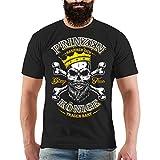 Männer und Herren T-Shirt Könige Tragen Bart Größe S - 8XL