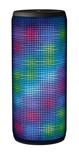 Trust Urban Dixxo - Altavoz portátil de 20 W para dispositivos con Bluetooth (con iluminación de colores), negro