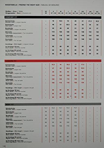 Marvelis - Comfort Fit - Bügelfreies Herren Langarm Hemd in Weiß, Kent Kragen (7970/64) Weiß (00)