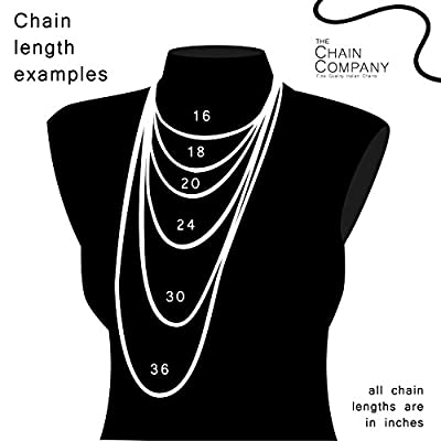 "The Chain Company - Sterling Silver 16"" 18"" 20"" 24"" 28"" 30"" Inch 1.5mm Thick Italian Curb Chain Necklace"