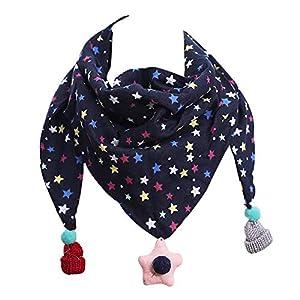 Hosaire 1X Bufanda de Algodón Bebé Calentador de Cuello Linda Patrón de Pequeña Estrella Otoño Invierno Triángulo… 6