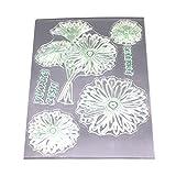 rawuin 1Set Süß klar Silikon Gummi Siegel Stempel für DIY Album Scrapbooking Foto-Karte Book Wand Fenster Decor (# 002) blume
