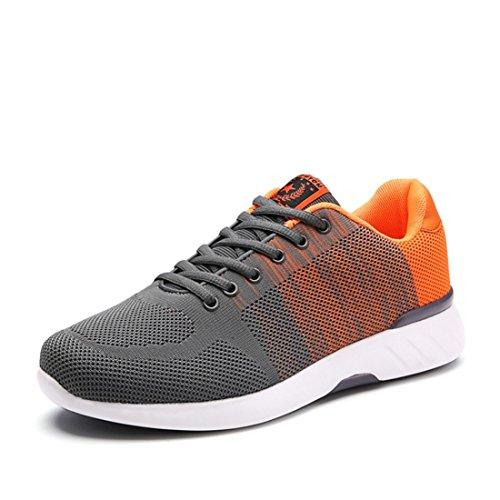 Men's Damping Comfortable Athletic Outdoor Walking Shoes Grey