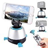 Stativkopf, PULUZ elektronisch 360 Grad Rotation Panoramafoto Selbstauslöser mit IR-Fernbedienung und eingebautem Bluetooth für die meisten Smartphones und Kameras