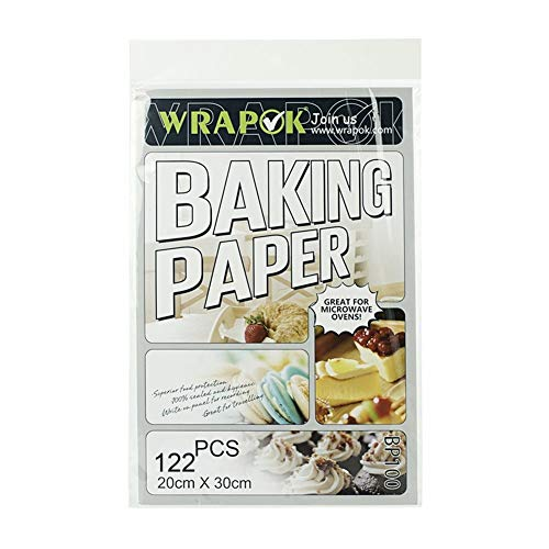 WRAPOK Pergamentpapier Antihaft Backen Plätzchen Blätter Vorschnitt Pergament Papier Pan Liner Für Kochen Kuchen Küchen 8 x 12 Zoll 122 Stück