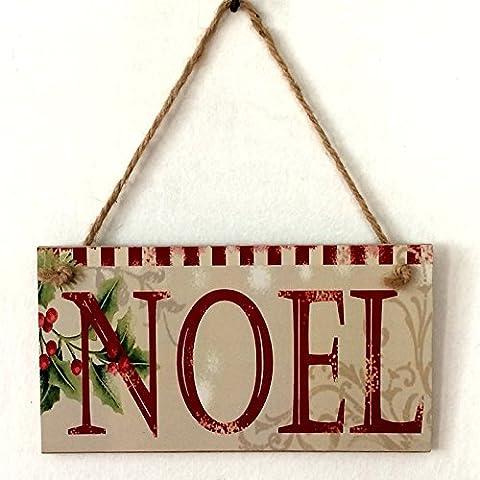 Lanlan Noel Buchstabe Print Wand Türschild Holz Schild Türschild Wandschild zum Aufhängen für Weihnachten Hotel Home (Weihnachts-national Lampoon)