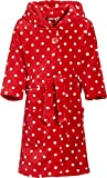 Playshoes Mädchen Fleece Punkte Bademantel, Rot (original 900), 74 (74/80)