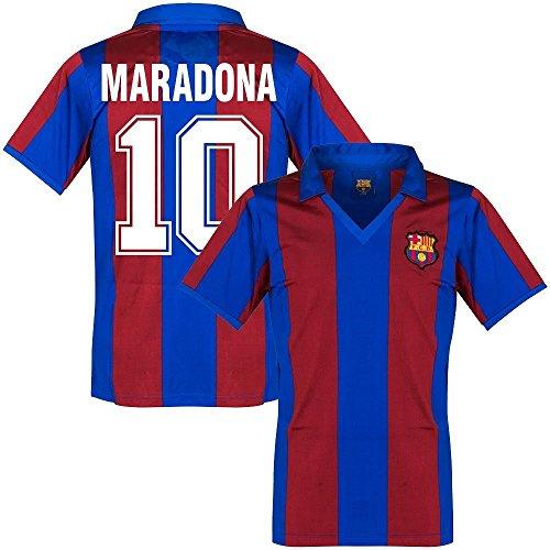 1982 Barcelona Home Retro Trikot + Maradona 10 - XL