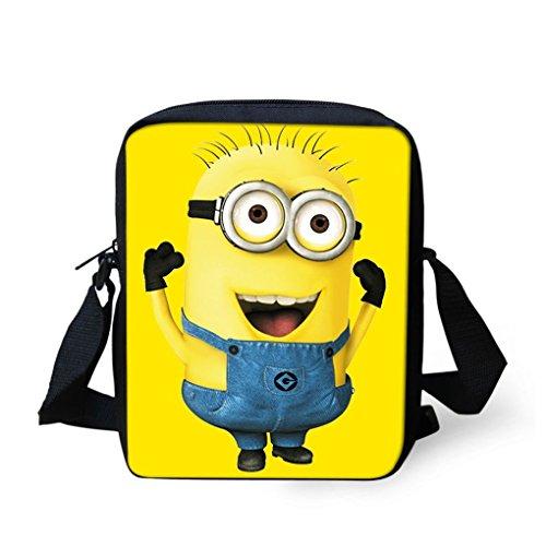 Minion auf eine Messenger Bag/Geldbörse,/Schule Tasche, verstellbarer Gurt