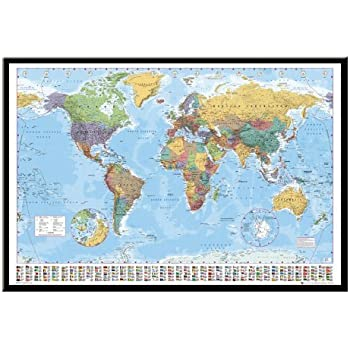 World map pin board framed in black wood includes 100 pins 965 x world map pin board framed in black wood includes 100 pins 965 x 66 cms gumiabroncs