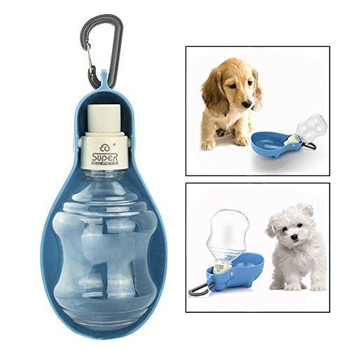 Itian Faltbarer Hund Wasser Flasche Schüssel Spender Feeder für Reise Food Grade Material Kein Verschütten Portable Trinkbrunnen