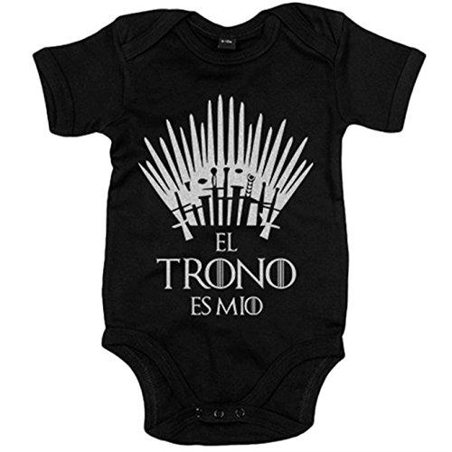 Body bebé Game Of Thrones Juego de Tronos El trono es mío - Negro, 6