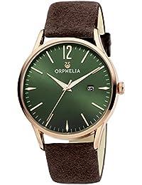 Orphelia Damen-Armbanduhr Analog Quarz Suede