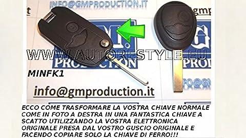 G. M. Production-FK1/MINI-Coque de transformation a Cliquet pour clé télécommande BMW MINI (voir photo et détails pour la compatibilité)
