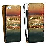 DeinDesign Apple iPhone 4s Étui Étui à Rabat Étui magnétique People Wait 2