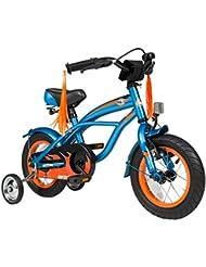 BIKESTAR® Premium 30.5cm (12 pulgada) Bicicleta Premium para los niños mas atrevidos y divertidos de 3 años ★ Edición Cruiser de Lujo ★ Azul